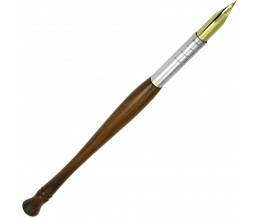 Silver Gift Dip Pen With Rosewood Handle