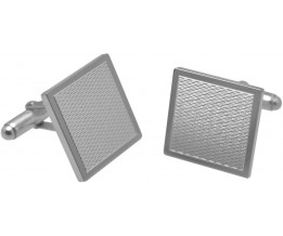 SQUARE SHAPED ENGINE TURNED CUFFLINKS STERLING SILVER