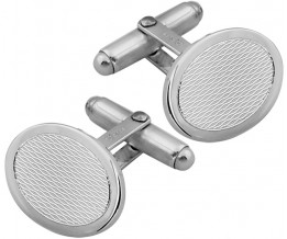 Classic English 2mm Thick 925 Sterling Silver Engine Turned Oval Cufflinks Hallmarked 1.9 x 1.4cm