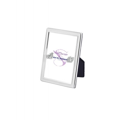 Velvet Backed Beaded Border Photo Frame  9cm x 6cm Sterling Silver