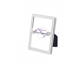 Velvet Backed Beaded Border Photo Frame  13cm x 9cm Sterling Silver