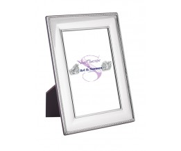 Beaded Photo Frame With Wooden Back 15cm x 10cm Sterling Silver