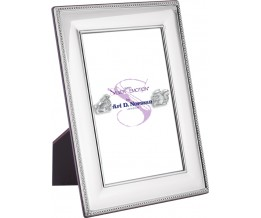 Beaded Photo Frame With Wooden Back 25cm x 20cm Sterling Silver