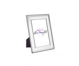 Beaded Photo Frame With Wooden Back 9cm x 6cm Sterling Silver