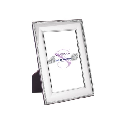 Beaded Photo Frame With Wooden Back 9cm x 13cm Sterling Silver
