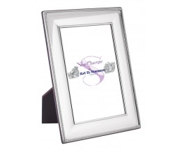 Beaded Photo Frame With Wooden Back 18cm x 13cm Sterling Silver