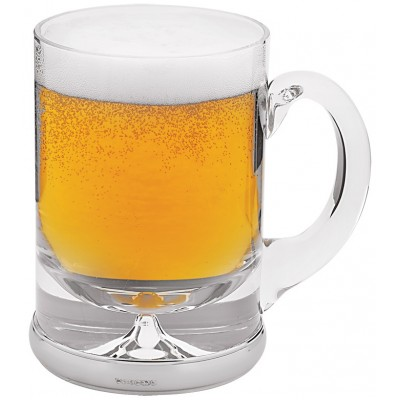 Beer Glass With Mounted Sterling Silver Base