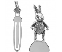 Moveable Rabbit Bookmark Sterling Silver