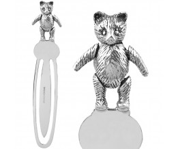 Moveable Teddy Bear Bookmark Sterling Silver