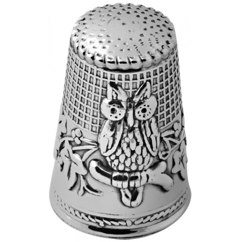 Owl Thimble Sterling Silver