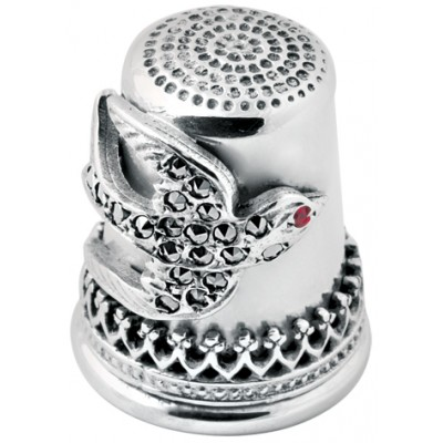 Marcasite Swallow Thimble Sterling Silver