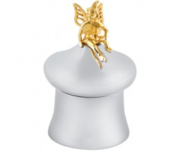 Tooth Fairy Box With Gold Plated Fairy Sterling Silver