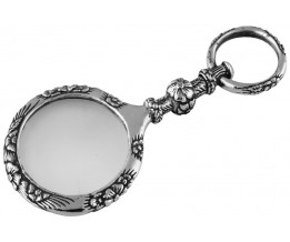 Unique Magnifying Glass Pendant Sterling Silver