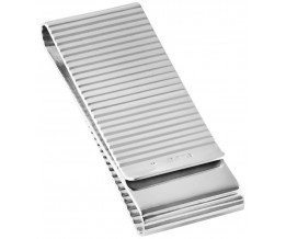 Double Sided Ribbed Money Clip Sterling Silver
