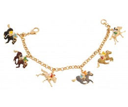 Gold Plated Equestrian Charm Bracelet