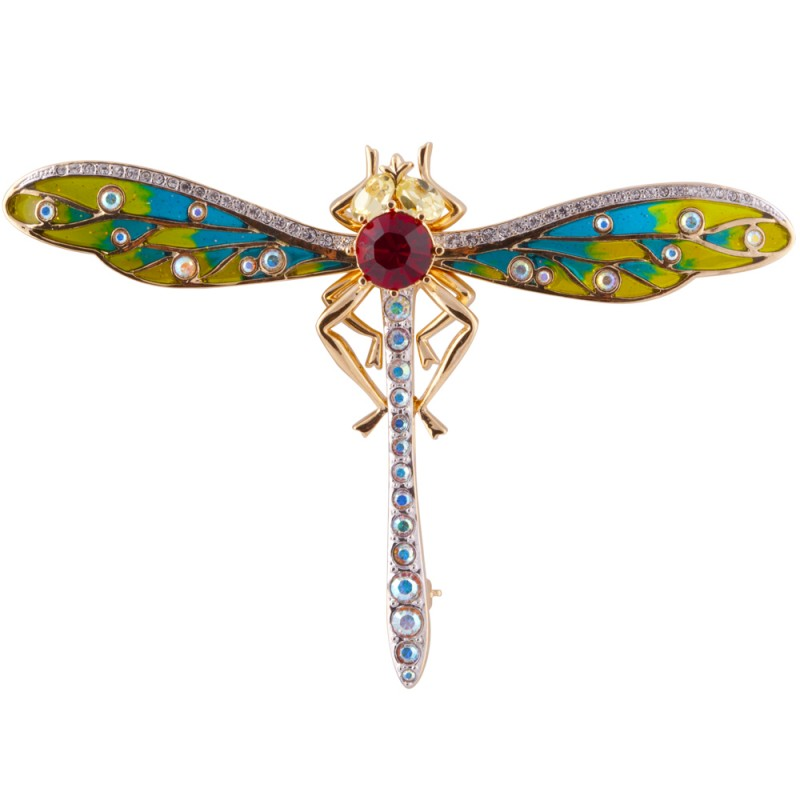 Dragonfly Brooch Gold Plated