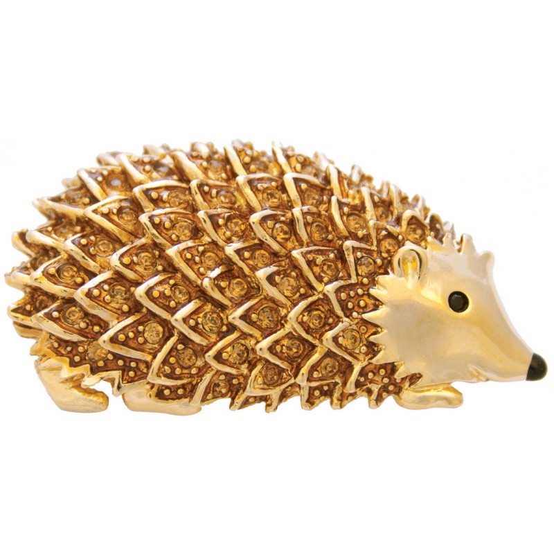 Gold Plated Hedgehog Brooch