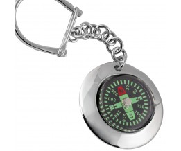 Compass Key Ring Sterling Silver