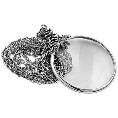 Sterling Silver Floral Magnifying Glass Pendant