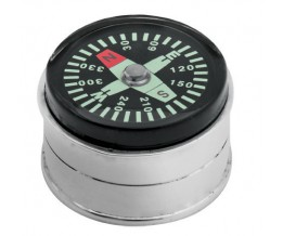 Sterling Silver Compass Pill Box