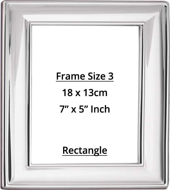 Rectangular Sterling Silver Photo Frame Size 3 - Holds Photo Size 18 ...