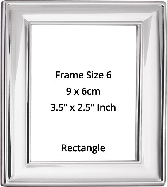 Rectangular Sterling Silver Photo Frame Size 6 Holds Photo Size 9